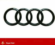 AUDI GLOSS BLACK REAR BOOT RINGS BADGE EMBLEM S LINE A3 S3 RS3 A4 A5 A6 TT 193mm