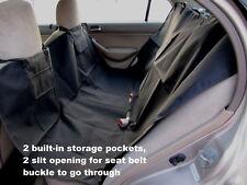 Dog Travel Hammock W/storage Pockets Heavy Duty Car Seat Waterproof Cover Black