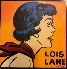 "Lois Lane, Superman's Girl Friend, 12"" x 12"" Original Acrylic Painting"