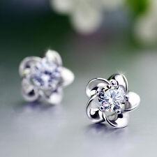 Crystal Rhinestone Ear Stud Earrings Good 1 Pair New Fashion Women Lady Elegant