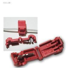 100 Schnellverbinder für Kabelschuhe ROT 0,5-1,5mm² Stromdiebe Abzweigverbinder