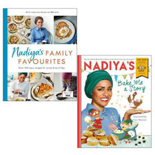 Nadiya's Bake Me a Story and Family Favourites Recipe 2 Books Collection Set NEW
