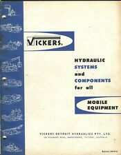 Vickers Hydraulic Systems and Components for all Mobile Equipment catalogue