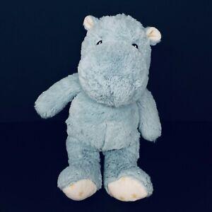 "Cloud B Dreamy Hugginz Hippo Plush Blue Gold Stars Feet Ears 14"" Baby FAST SHIP"
