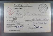 Camp Oflag XXIC Schokken 1942 POW Prisoner of War Kriegsgefangenenpost K1a
