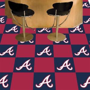 "Atlanta Braves MLB 18"" x 18"" Man Cave, Garage, Shop or Office Carpet Tiles"