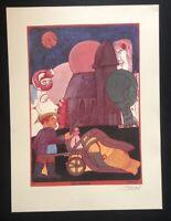 Pit Morell, Petit Laboureur, Farblithographie, 1969, handsigniert und datiert