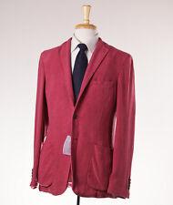 NWT $2195 BELVEST Woven Pomegranate Pink Silk-Linen Sport Coat Slim 42 R Blazer