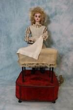 "19"" French Tete Jumeau Musical Automaton ""Housekeeper at the Laundry Table"" 1890"