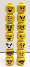 14 NEW LEGO Female Minifigure Heads / 14 Different Faces