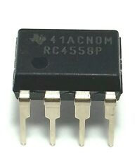2PCS Texas Instruments RC4558P RC4558 Dual Operational Amplifier DIP-8 New IC