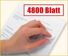 4800 Blatt Rechnungspapier mit integriertem Etikett / Papier mit Etikett
