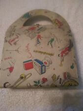 RECORD CASE POUCH VINTAGE grubby needs TLC + 20 records