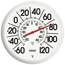 """Springfield 90007 13"""" Indoor Outdoor Plain Big & Bold Patio Dial Thermometer"""
