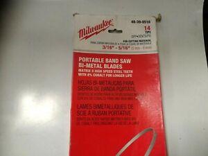 Milwaukee band saw blade 48-39-0516 cobalt coated