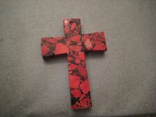 Mosaic Red Magnesite Cross Pendant 1 pc