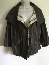 Free People Parka Army Jacket Coat S Olive Green Lightweight Anthropologie #B6