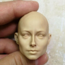 Blank 1/6 Scale lady Girls Head Sculpt Unpainted Without Hair