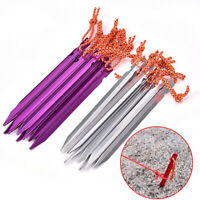 10pcs Tent Pegs Tent Stake With Rope Tent Nail Peg Tent Accessories Equipment`UK