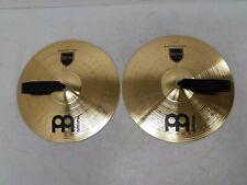 "Meinl MA-BR-14M Marching Cymbal Pair Brass 14"" Medium w/  Straps"