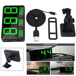 "Universal Auto Bike 4.5"" Digital GPS HUD Speedometer Dual Mode Display KM/h MPH"