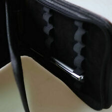 Best Fountain Pen/Roller Pen Black Color PU Leather Zipper Case for 12 Pens DP