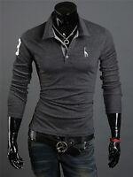 Cool Mens Slim Fit Stylish POLO Shirt Short Sleeve Casual T-shirts Tee Tops