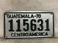 Vintage 1970 Guatemala Motorcycle License Plate