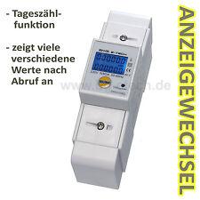 LCD di corrente alternata CONTATORE CONTATORI 5 (50) a s0 DIN Hutschiene con atto. Last visualizzazione