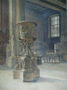 Monumental Carved Urn in Italian? Museum.  Attr Thomas W Cafe. C19th W/c