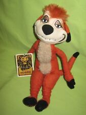 "Disney Store The Lion King Broadway Musical Timon Meerkat 11"" Plush Beanie Toy"