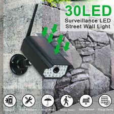 Motion Sensor LED Solar Light Security Wall Street Yard Outdoor Lamp Fake Camera