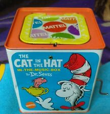 RARE FIND-VINTAGE-DR SEUSS-CAT IN HAT..MUSICAL -POP UP-CAT (JAK) IN BOX -MATTEL-