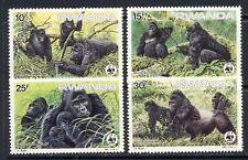 Rwanda WWF Gorilla set mnh vf Scott 1208-11   30.00