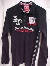 SAN DIEGO STATE College Basketball Champs 1997 Sewn Long Sleeve Polo Shirt M 48