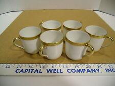 Set of 6 Noritake Tuscan Demitasse or Espresso Ivory with Gold Trim Cups - EUC