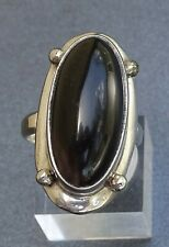 Gorgeous Large Genuine Oynx & 925 Sterling Silver Ring Men/Ladies
