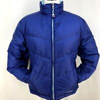 LL Bean Violet & Blue Woman M Reversible 2-in-1 Goose Down Puffer Jacket Coat