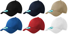 New Era 9FORTY Strapback Adjustable Hat Cap Blank Black, Charcoal, Royal, Red