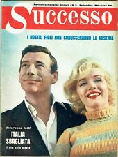 MARILYN MONROE Cover Magazine 1960 Italy Vintage Weekly Issue Rare Sexy Successo