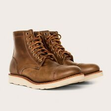 Oak Street Bootmakers Natural Vibram Sole Cap-Toe Trench Boot Size 9.5 D New