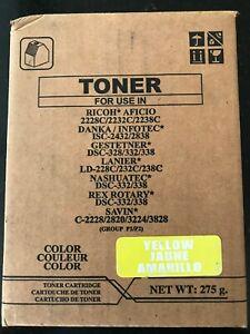Premium 480-0203 Replacement Ink Toner Cartridge for Lanier Printers, Yellow