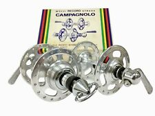 NIB Campagnolo Record high flange hubs 36 holes French thread NOS