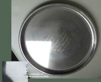LORD LIEUTENANTS ENGLISH SILVERPLATED DRINKS SALVER-BUTLER-COL. WILLIAMS 1986  *