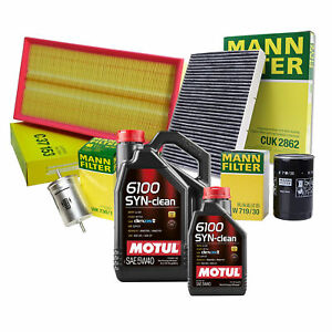 5L Motul 6100 SYN-CLEAN 5W40 Mann Oil Filter Service Kit For Audi TT 1.8L L4 FWD