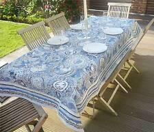Tischdecke Provence 145x260 cm blau weiß Jacquard Gobelinart aus Frankreich