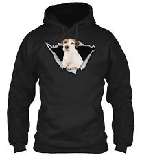 Torn - Parson Russell Terrier Classic Pullover Hoodie - Poly/Cotton Blend