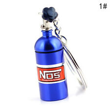 NOS Turbo Nitrogen Bottle Metal Keyfob Key Ring Holder Car Keychain Pendant Gift