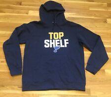 NHL Top Shelf St Louis Blues Hockey Hoodie Sweatshirt!  L