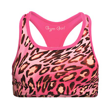 61ccf1a167d44 Reversible Sports Bra in Pink Leopard by Gym Girl